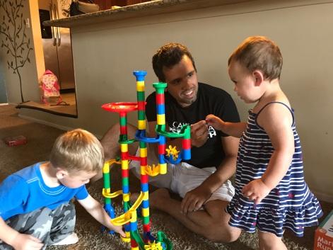 Dad Playing With Kids Amazing Husband